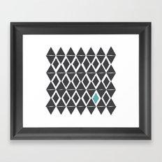 diamond back Framed Art Print