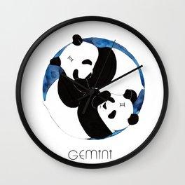 Panda Zodiac Gemini Wall Clock