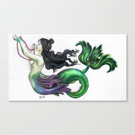 Lusterweibchen Mermaid Canvas Print