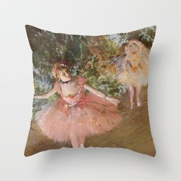 Dancer On Stage By Edgar Degas | Reproduction | Famous French Painter Throw Pillow