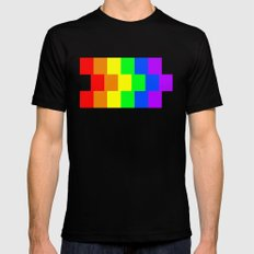 Rainbow Flag - High Quality image Mens Fitted Tee X-LARGE Black
