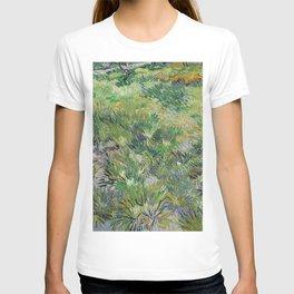 Long Grass with Butterflies by Vincent van Gogh T-shirt