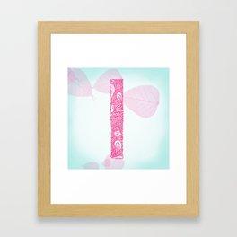 """Floral Letter """"I"""" Framed Art Print"""