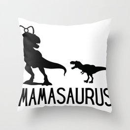 Mamasaurus, Dino, dinosaur, tyrex Throw Pillow