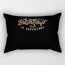 Bushcraft Is Adventure Survival Camping Rectangular Pillow