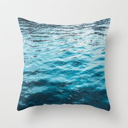 darken water with colorful reflections Throw Pillow