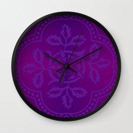 cloister advent purple Wall Clock