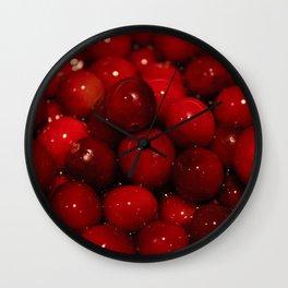 Cranberries Photography Print Wall Clock