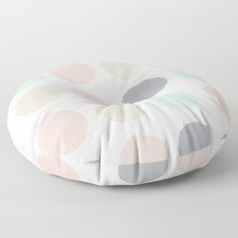 Hayes - minimal dots gender neutral baby modern nursery art decor trendy Floor Pillow