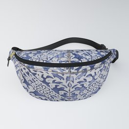 Moroccan blue tiles photography, bohemian, indian style Fanny Pack