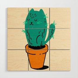 Cat-tus Wood Wall Art