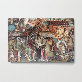 Mural by Diego Rivera Metal Print