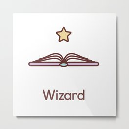 Cute Dungeons and Dragons Wizard class Metal Print