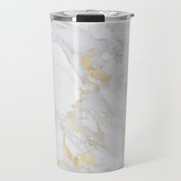 Marble with Gold Travel Mug