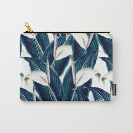 Bluish floral botanical 0I Carry-All Pouch