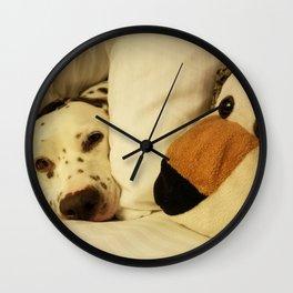 Dalmatian Tiger Nap Wall Clock