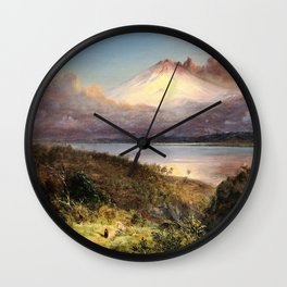 Frederic Edwin Church - View Of Cotopaxi - Digital Remastered Edition Wall Clock