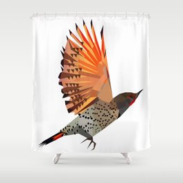Flying bird Flicker Geometric Nature Shower Curtain