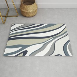 Abstract wavy lines Rug