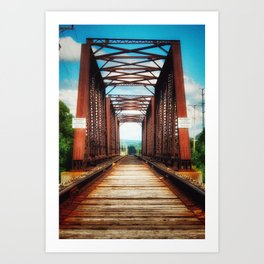 Upstate Bridge Art Print