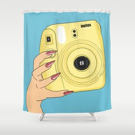 Instax Yellow Shower Curtain