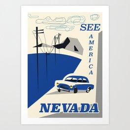 Nevada vintage travel poster Art Print