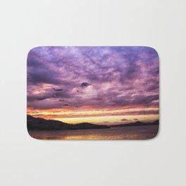 Mountain Lake Sunset Bath Mat