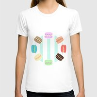 macarons T-shirts featuring Macarons by ASHEFACE DESIGNS