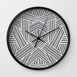 InterLines Gray Wall Clock