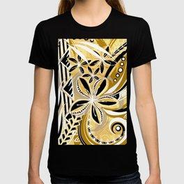 Polynesian - Hawaiin - Samoan Ochre Floral Tribal T-shirt