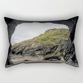Merlins cove tintagel Rectangular Pillow