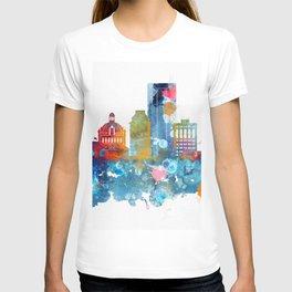 Colorful watercolor Lexington skyline T-shirt