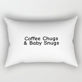 Coffee Chugs and Baby Snugs, Mom Coffee, Gift for Mom, Cute Mom Gifts, Baby Shower Gifts Rectangular Pillow