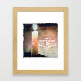 Predict The Future, Invent It !! Framed Art Print