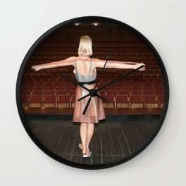 Everyone Likes to get On Stage and be Applauded Wall Clock