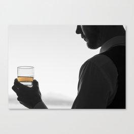Gentleman with Scotch Canvas Print