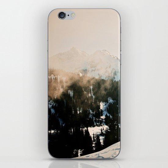 Winter Mountain Hike iPhone Skin