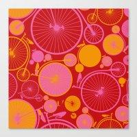 bikes Canvas Prints featuring Bikes by Helene Michau