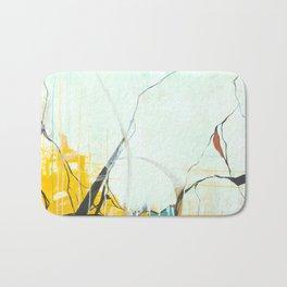 October - Square Abstarct Expressionism Bath Mat