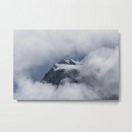 Snowy summit Metal Print