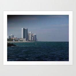 Coastal High Rise Art Print