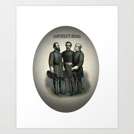 Civil War Heroes Stonewall Beauregard Lee Art Print