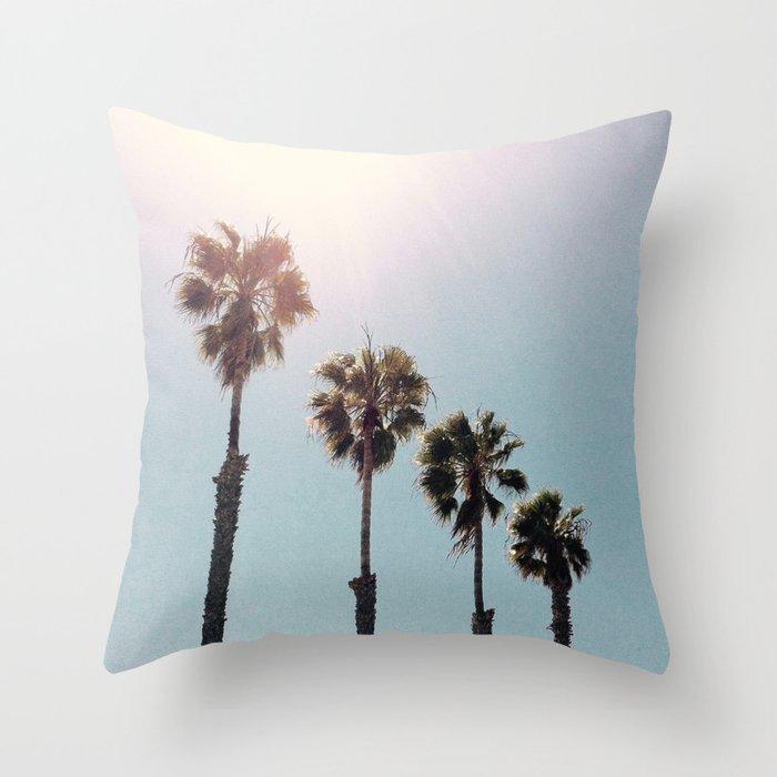 Four Palms Throw Pillow