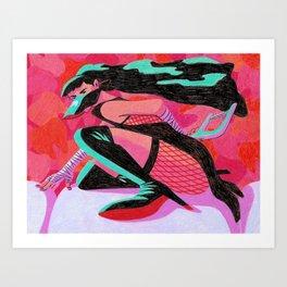 Elegy on Enamel Art Print
