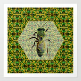 BEE GREEN Art Print