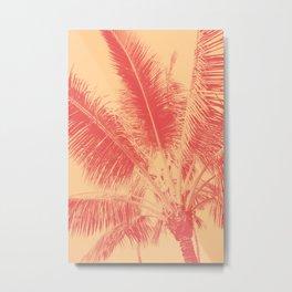 Mango Coral Tropical Palma Metal Print