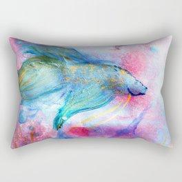 Iridescent Abstract Betta Rectangular Pillow