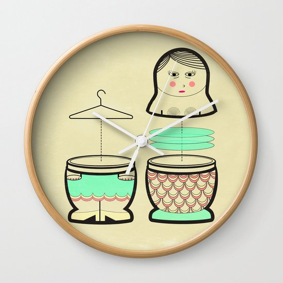 The mermaid who was tired of her tail ... Wall Clock