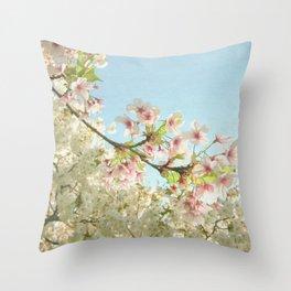 Pink on White Throw Pillow