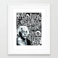 einstein Framed Art Prints featuring Einstein.  by Will Santino